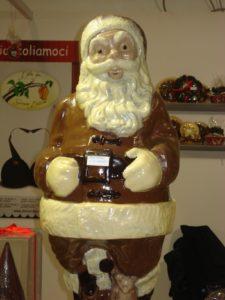 Babbo Natale di cioccolato allo Showcolate di Napoli...e io c'ero!
