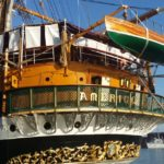 A bordo della nave-scuola Amerigo Vespucci